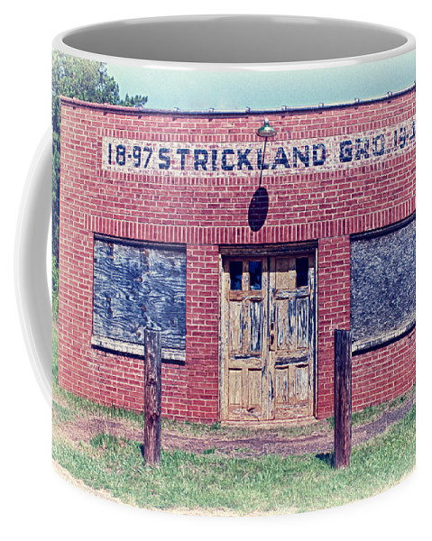 Antique Coffee Mug featuring the photograph Strickland Grocery by Lynne Jenkins