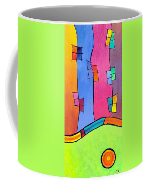 Science Coffee Mug featuring the painting String Theory by Jeremy Aiyadurai