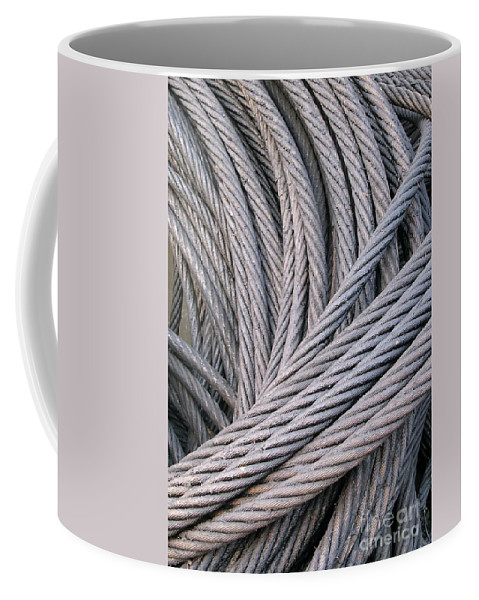 Steel Coffee Mug featuring the photograph Strong Wire Rope by Yali Shi