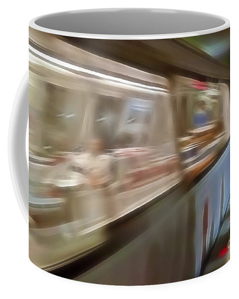 Subway Coffee Mug featuring the photograph Subway Blur by Darleen Stry