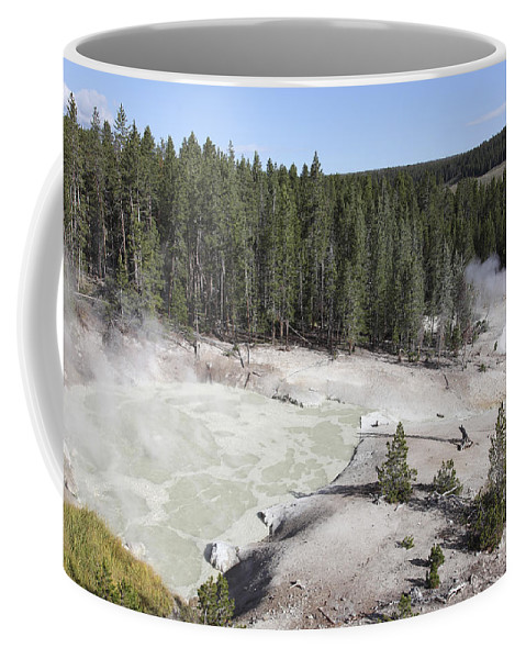 Unesco Coffee Mug featuring the photograph Sulphur Cauldron Hot Spring by Richard Roscoe