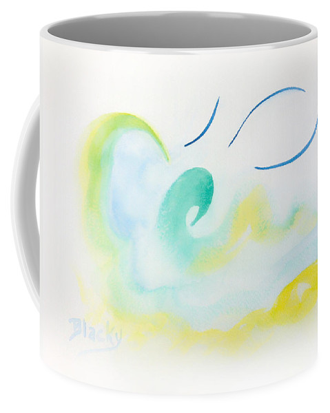 Beach Coffee Mug featuring the painting Summer At The Beach by Donna Blackhall