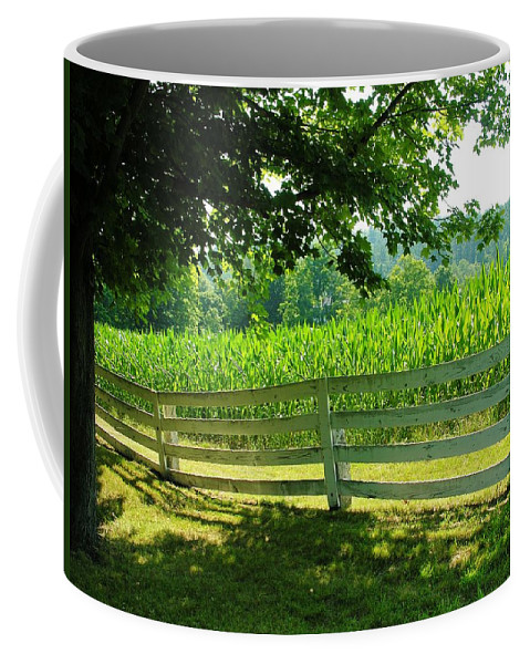 Corn Coffee Mug featuring the photograph Summer Corn by Sherman Perry