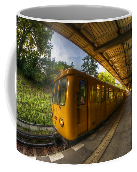 Airport Coffee Mug featuring the photograph Summer Eveing Train. by Nathan Wright