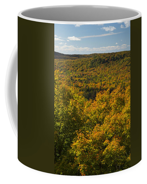 Summit Coffee Mug featuring the photograph Summit Peak Autumn 10 by John Brueske
