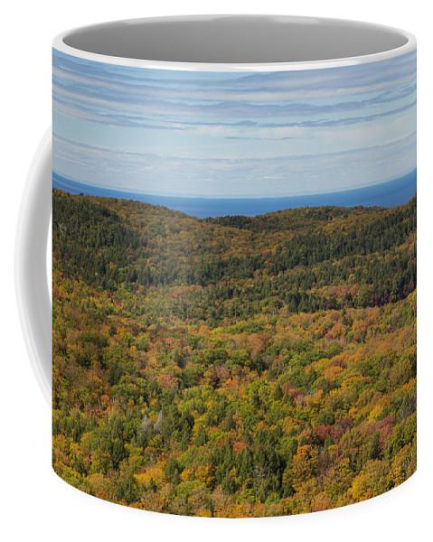 Summit Coffee Mug featuring the photograph Summit Peak Autumn 13 by John Brueske