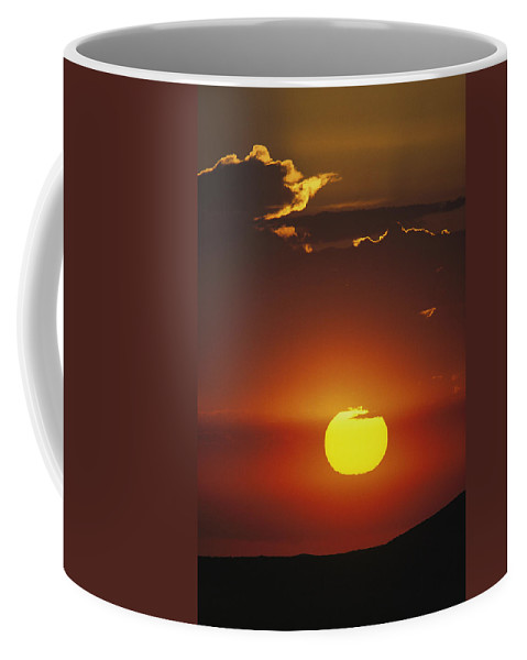 North America Coffee Mug featuring the photograph Sun And Clouds At Sunrise, Yellowstone by Raymond Gehman