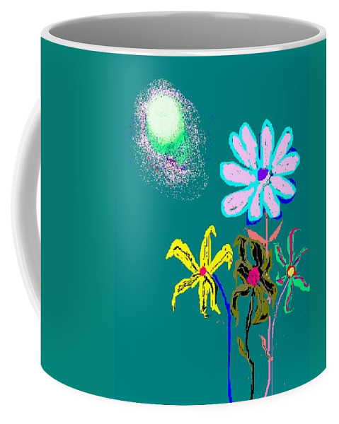 Sun And Flowergarden Coffee Mug featuring the digital art Sunflower Two by Enriquemontana Garcia
