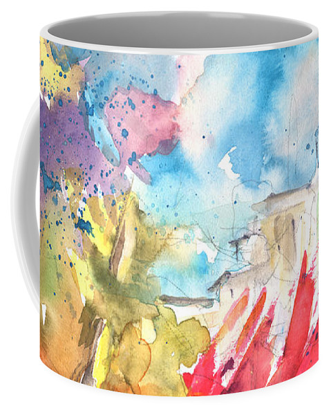 Aquarelle Coffee Mug featuring the painting Sunny Rain On Planet Goodaboom by Miki De Goodaboom
