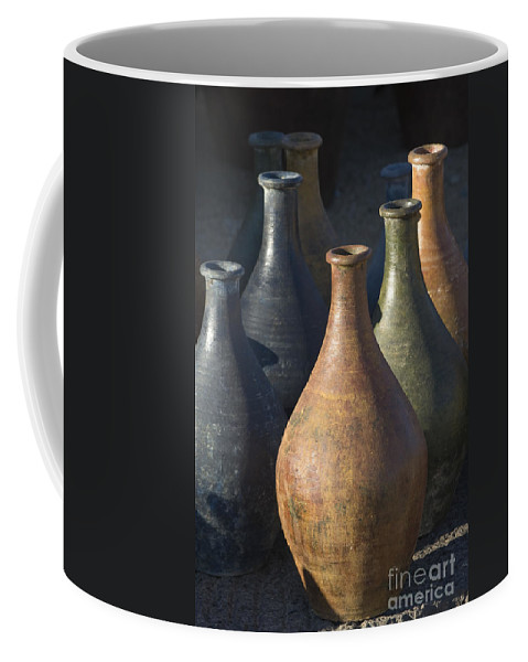 Southwest Coffee Mug featuring the photograph Sunrise And Pottery by Sandra Bronstein