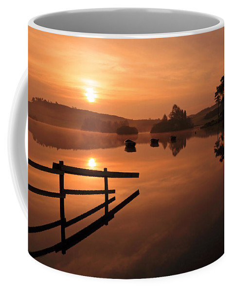 Sunrise Coffee Mug featuring the photograph Sunrise At Knapps Loch by Grant Glendinning