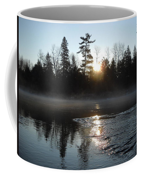 Mississippi River Coffee Mug featuring the photograph Sunrise On Ice by Kent Lorentzen