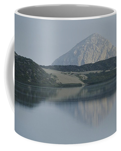 North America Coffee Mug featuring the photograph Sunrise On Morro Bay And Rock by Rich Reid