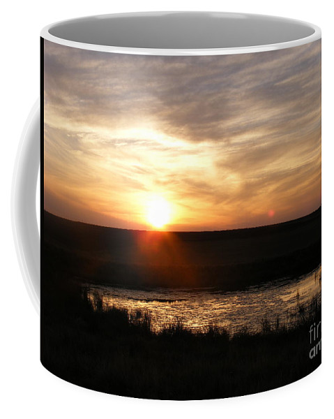Sunset Coffee Mug featuring the photograph Sunset And Water by Helena Marais