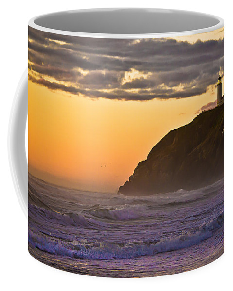 Lighthouse Coffee Mug featuring the photograph Sunset At North Head II by Robert Bales