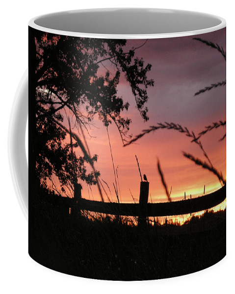 Sunset Coffee Mug featuring the photograph Sunset Bird by Leanne Karlstrom