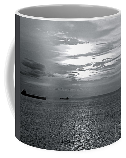 Caribbean Coffee Mug featuring the photograph Sunset In The Caribbean by Carol Bradley