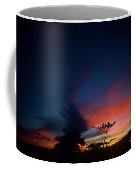 Oahu Coffee Mug featuring the photograph Sunset Leeward Oahu by Mark Gilman