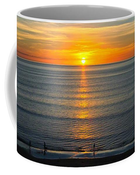 Sunset Coffee Mug featuring the photograph Sunset - Moana Beach - South Australia by Jocelyn Kahawai