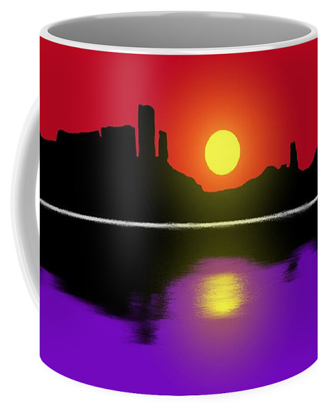 Sunset Coffee Mug featuring the painting Sunset No. 3 by George Pedro