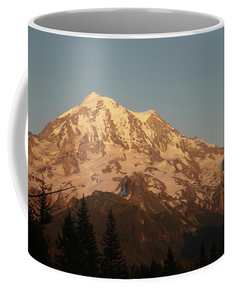 Sunset Coffee Mug featuring the photograph Sunset On The Mountain by Michael Merry