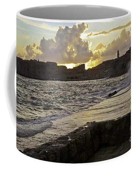Sun Coffee Mug featuring the photograph Sunset Over Dubrovnik 2 by Madeline Ellis