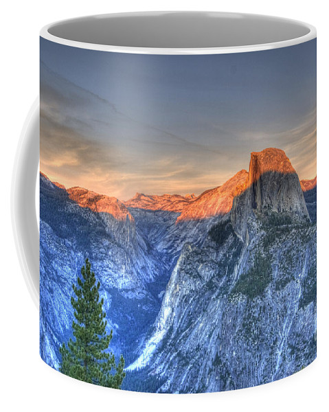 Half Dome Coffee Mug featuring the photograph Sunset Over Half Dome by Jim And Emily Bush