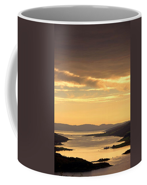 Atmosphere Coffee Mug featuring the photograph Sunset Over Water, Argyll And Bute by John Short