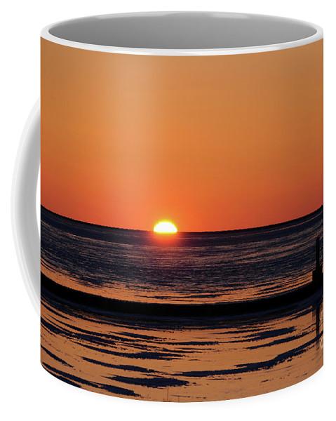 Sunset Coffee Mug featuring the photograph Sunset Park Petoskey Mi by Ronald Grogan