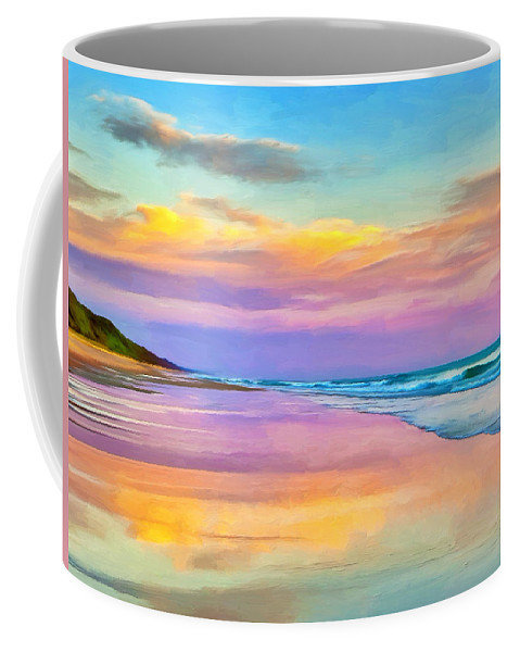 Sunset Coffee Mug featuring the painting Sunset South Of Todos Santos by Dominic Piperata
