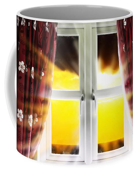 Window Coffee Mug featuring the photograph Sunset Through Window by Simon Bratt Photography LRPS