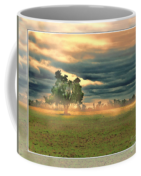 Nature Coffee Mug featuring the digital art Sunshine On A Cloudy Day by Debbie Portwood
