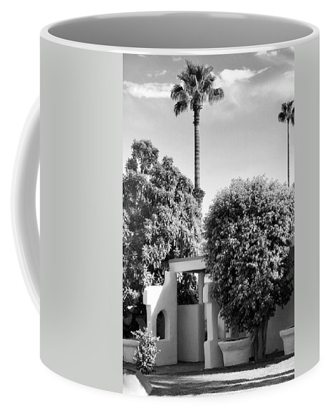 Palm Springs Coffee Mug featuring the photograph Suntan Lane Palm Springs by William Dey