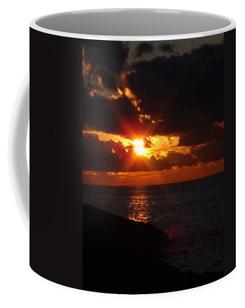 Lake Superior Coffee Mug featuring the photograph Superior Sunset by Bonfire Photography