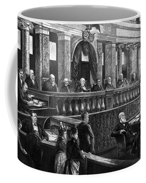 1888 Coffee Mug featuring the photograph Supreme Court, 1888 by Granger