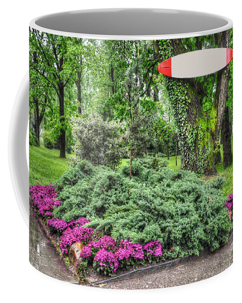 Surf Table Coffee Mug featuring the photograph Surf Table by Mats Silvan