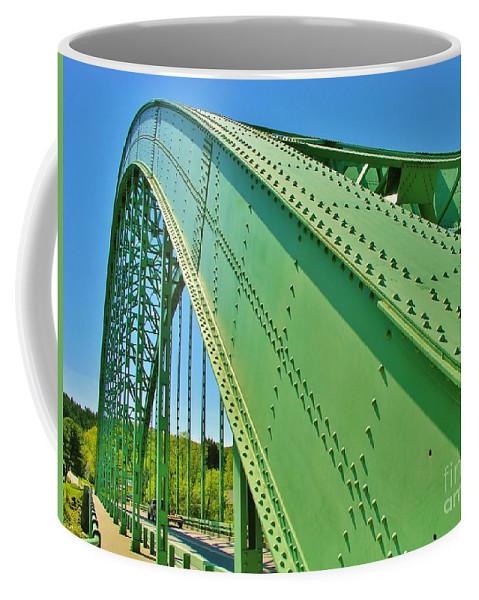 Suspension Bridge Coffee Mug featuring the photograph Suspension Bridge by Sherman Perry