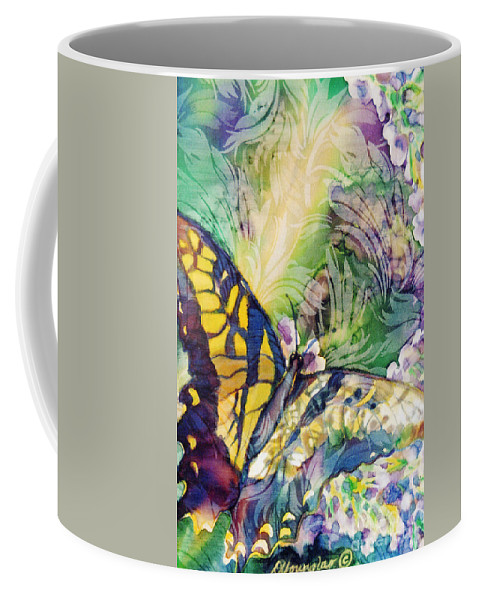 Butterfly Coffee Mug featuring the painting Swallowtail 1 by Deborah Younglao