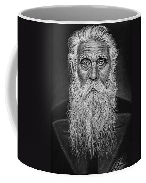 Portrait Coffee Mug featuring the drawing Swedish Carpenter by Nicole Zeug