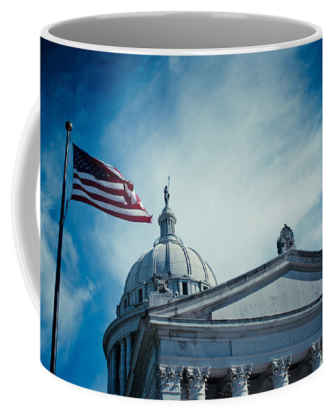 Skyscape Coffee Mug featuring the photograph Symbol Of Freedom by Toni Hopper