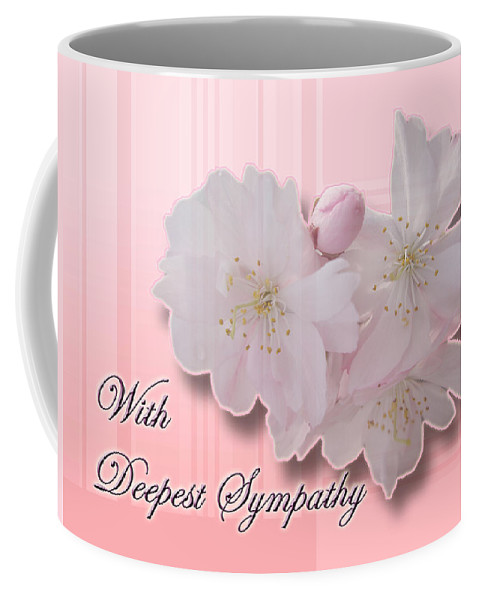 Sympathy Coffee Mug featuring the photograph Sympathy - Cherry Blossoms by Mother Nature