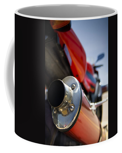 Background Coffee Mug featuring the photograph Tailpipe by Ricky Barnard