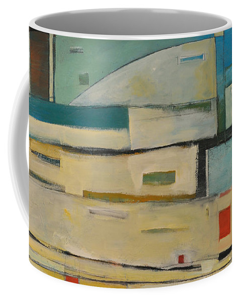 Abstract Coffee Mug featuring the painting Take Me Right Back To The Track Jack by Tim Nyberg