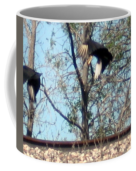 Coffee Mug featuring the photograph Taking Off by Amy Hosp