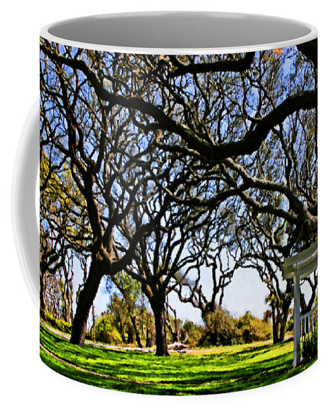 Live Oaks Coffee Mug featuring the digital art Tangled by Kristin Elmquist