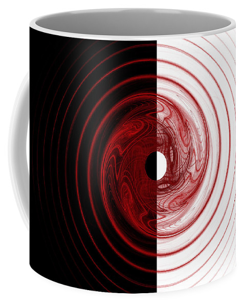 Fractal Coffee Mug featuring the digital art Target by Betsy Knapp
