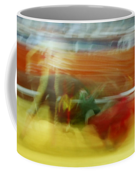 Abstract Coffee Mug featuring the photograph Tauromaquia Bull-fights In Spain by Guido Montanes Castillo