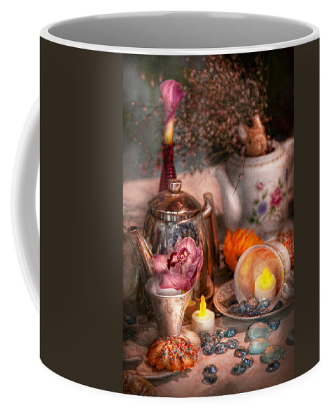 Tea Coffee Mug featuring the photograph Tea Party - I Would Love To Have Some Tea by Mike Savad
