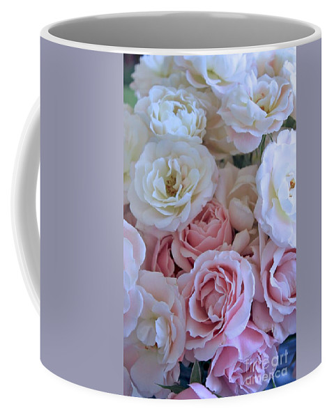 Rose Coffee Mug featuring the photograph Tea Time Roses by Carol Groenen