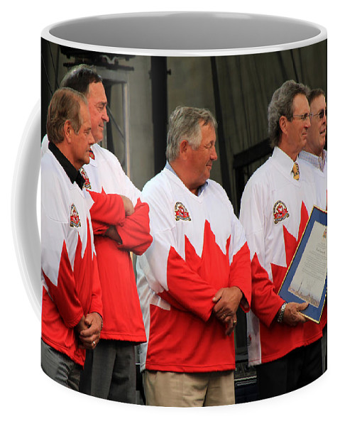 Team Canada Coffee Mug featuring the photograph Team Canada 1 by Andrew Fare